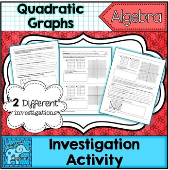 Graphs of Quadratics in Standard Form Investigation Activity