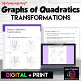 Graphs of Quadratics Transformations Digital Assignment Distance Learning