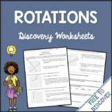 Transformations - Rotations Discovery Worksheets