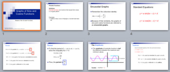 Graphs of Sine & Cosine Functions-Amplitude & Period -Powe