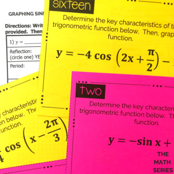 Graphs of Sine and Cosine Task Cards