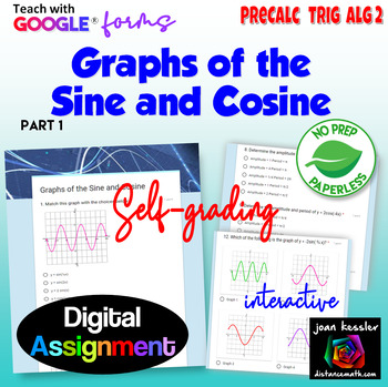 Graphs of the Sine and Cosine with Google™ Forms Self Grading Assignment