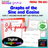 Graphs of the Sine and Cosine with Google™ Self Grading Pa