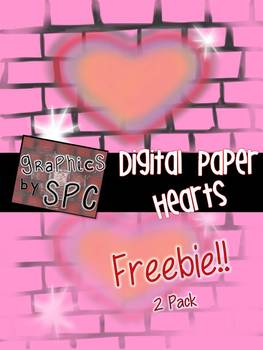 Graphics By SPC FREE Packet- Valentine's Day Digital Paper