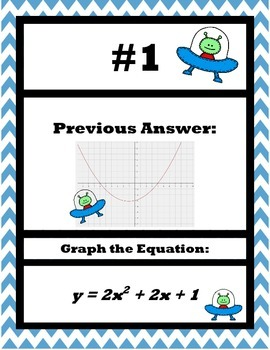 Graping Quadratics with Graphing Calculator Scavenger Hunt