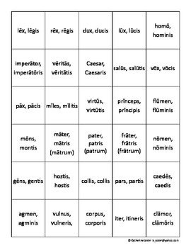Grasping For Straws!  A Latin 3rd Declension Gender Game