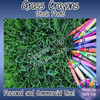 Grass Crayons (Stock Photo)