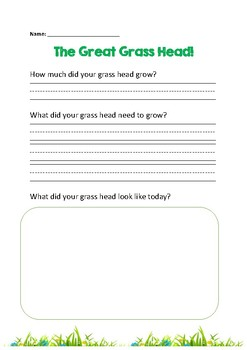 Grass Head Experiment Worksheet