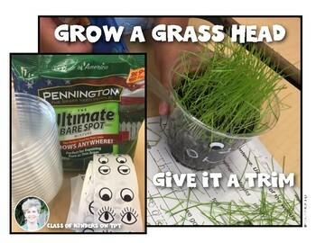 Grass Head Science Journal  {Growing Hair Experiment} Kindergarten & First Grade