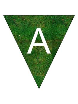 Grass Pennant Bunting Banner - Sports and Spirit!