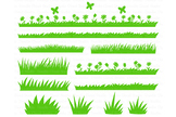 Grass SVG, Grass and Flowers SVG Files for Silhouette Cameo and Cricut.