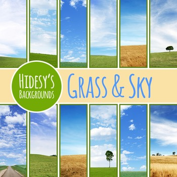 Grass and Sky Digital Papers / Backgrounds / Photos for Co