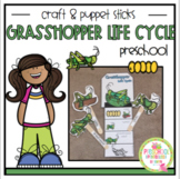 Grasshopper Life Cycle Easy Craft and Teacher Puppet Sticks