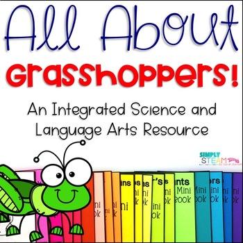 Grasshopper Life Cycle NO PREP Mini - Book and Worksheet