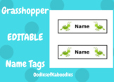 Grasshopper Name Tag EDITABLE FREEBIE!