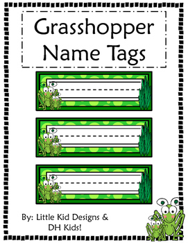 Grasshopper Name Tags - Printable Name Tags