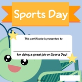 Grasshopper Themed Sports Day Certificate