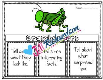 Grasshoppers Writing Flap Books!