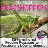 Grasshoppers Differentiated Reading Passages with Vocabula