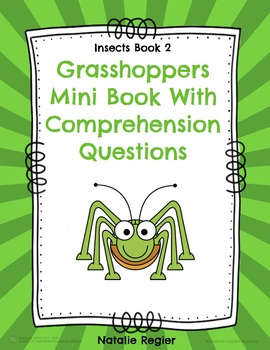 Grasshoppers Mini Book With Comprehension Questions