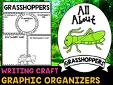 Grasshoppers - Writing Craft and Graphic Organizers SET, Book Template, Insects