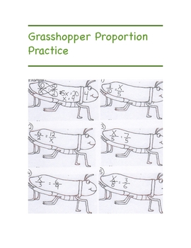 Grasshoppers and Proportions Workbook
