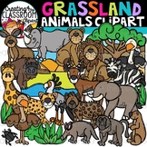 Grassland Animals Clipart {Savannah Animals Clipart}