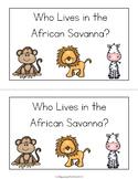 Grassland Animals Emergent Reader - African Savanna