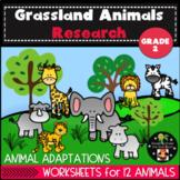 Grassland Animals and Habitat Research Second Grade
