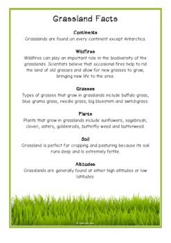 Grassland Fact Cards