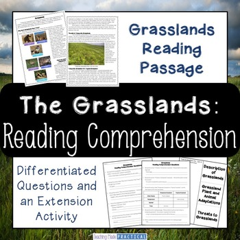 Grasslands Reading Comprehension and Differentiated Questions
