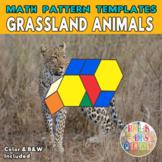 Grasslands Animals   Printable Math Pattern Block Templates