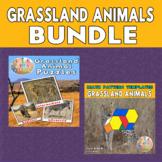 Grasslands Animals Printable Puzzles & Math Blocks Pattern
