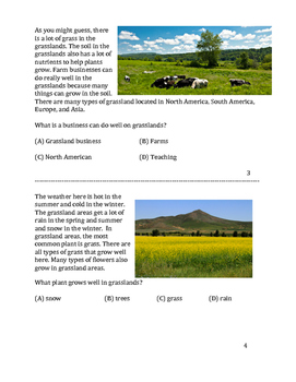 Grasslands Biome, Differentiated for low or non verbal students.