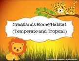 Grasslands Biome Habitat Science Pack (Worksheets, Vocabulary, Chart, Foldables)