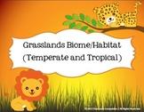 Grasslands Biome Habitat Science Pack (Worksheets, Vocabul
