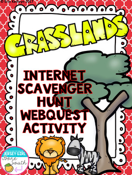 Grasslands Biome Internet Scavenger Hunt WebQuest Activity | TpT