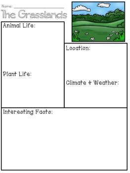 Grasslands Biome Organizer