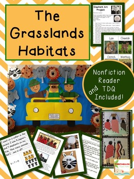 Grasslands Habitats Unit Common Core Aligned with Craftivities