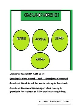 Grasslands Worksheet