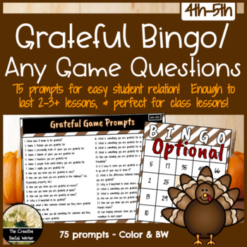Grateful Bingo / Game Prompts
