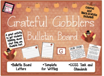 *Grateful Gobblers* a Thanksgiving/Fall Bulletin Board Activity