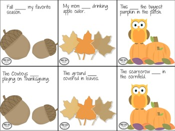 Grateful Grammar!  Fall/Thanksgiving Themed Grammar Unit