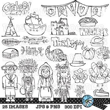 Grateful Heart - Thanksgiving Line Art