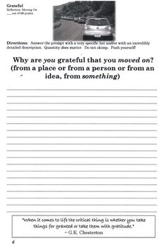 Grateful Journal (Daily quick-writes, English prompts)