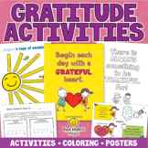 GRATITUDE ACTIVITIES - Coloring Pages, Posters for Wellbei