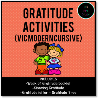 Gratitude Activities Vic Modern Cursive