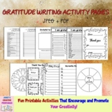 Gratitude Activity Pages - Set of 13 Pages