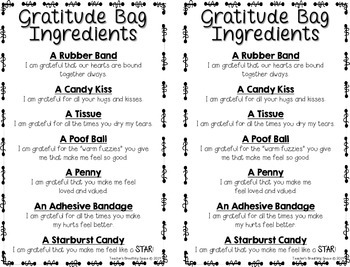 Gratitude Bags --- Easy Thanksgiving Gift, Valentine's Gift or Mother's Day Gift