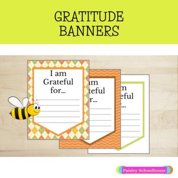 Gratitude Banners: Thanksgiving & Autumn Colors